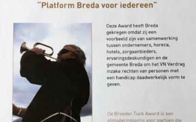 Broeder Tuck Award voor Platform Breda voor Iedereen